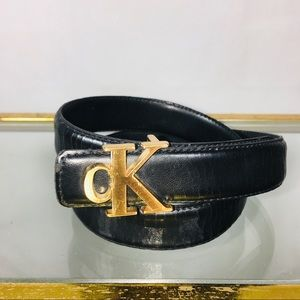 Vintage Calvin Klein CK Smooth Black Belt